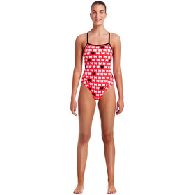 Funkita Single Strap One Piece Swimsuit Damer, black sheep